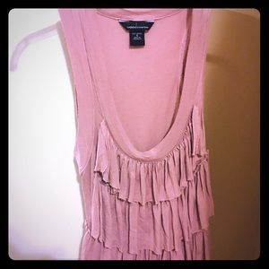 Victoria's Secret Moda Pink Ruffled Blouse Size S